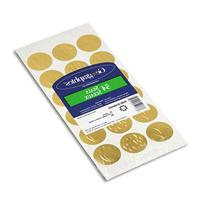-- Self-Adhesive Embossed Seals, Gold, 54/Pack