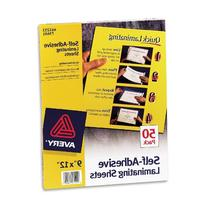 Avery Self-Adhesive Laminating Sheets, 9 x 12 Inches, Box of