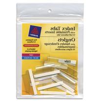 Avery Self-Adhesive Tabs w/Printable Inserts, 1 1/2 in,