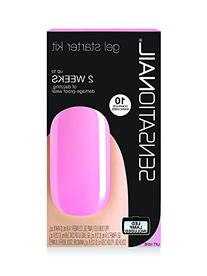 Sensationail gel polish starter kit - pink chiffon