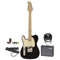 Sawtooth ET Series Electric Guitar Black w/Aged White