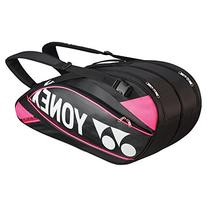 Yonex Pro Series Racquet Bag-Black/Rose Pink