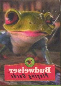 Budweiser Serious Frog Playing Cards