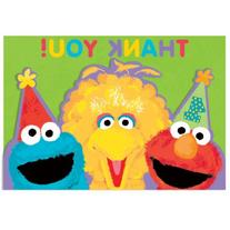 Amscan Sesame Street 1st Birthday Thank You Cards party