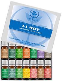 Essential Oil Set 14 - 10 ml Pure Therapeutic Grade Includes