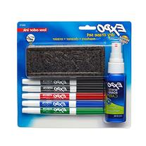 EXPO Low-Odor Dry Erase Set, Fine Point, Assorted Colors, 7-