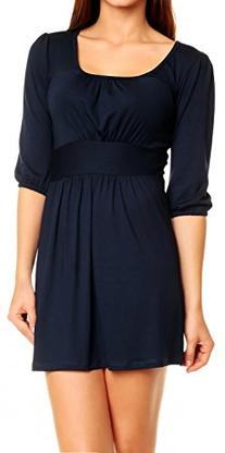 Glamour Empire Women's Sexy Ruched Jersey Tunic Top Extra