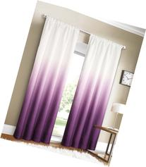 Dainty Home Shades 2-Window Panel Rod Pocket Set, 40 by 84-