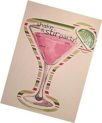 Shake and Stir Party Fill-in Invitations with Envelopes