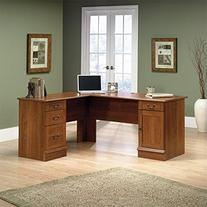 Sauder Office Furniture Shaker Cherry L-Shaped Desk with