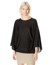 BCBGMAXAZRIA Women's Shania Drapped Pullover Sweater, Black
