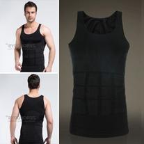 OrangeTag Men's Shaper Slimming shirt Elastic Sculpting Vest