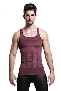 GKVK Mens Slimming Body Shaper Vest Shirt Abs Abdomen Slim,