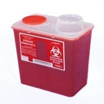 Monoject Small 4 Qt. Sharps Disposal Container, Chimney-Top