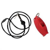 Fox 40 Sharx Safety Whistle with Black Lanyard Red/Red