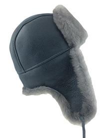 Zavelio Men's Shearling Sheepskin Aviator Russian Bomber Hat