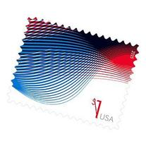 Sheet of ten $1 Patriotic Wave Stamps by USPS, 2015 New