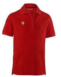 Ferrari Kids Red Shield Polo Shirt