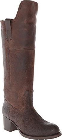 FRYE Women's Autumn Shield Tall Riding Boot, Dark Brown, 8 M