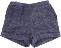Ella Moss Girls' Shimmer Linen Short - Blue - 12