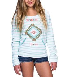 Billabong Girls' Shine For You Pullover Pink Punch Small