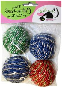 Cat-A-Lack 4-Piece Shiny Rope Balls for Pets