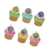 SHOPKINS Cupcake Topper Rings 12 count