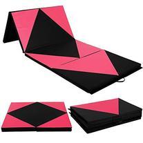 "ShopperChoice Pink/Black 4'x10'x2"" Thick Folding Panel"
