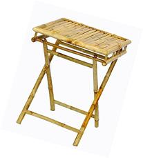 Short Folding Table w Bamboo and Easy Storage