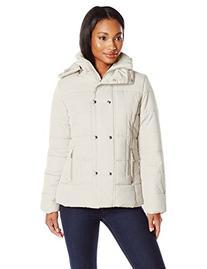 Big Chill Women's Short Puffer Jacket, Silver Birch, Small