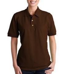 Gildan Women's Short Sleeve Pique Polo Jersey - DARK