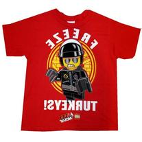 "LEGO Movie ""Freeze Turkeys!"" Boys Short Sleeve Shirt"