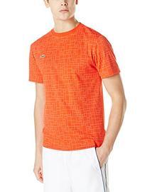 Lacoste Men's Sport Short Sleeve Ultra Dry Geometric Printed