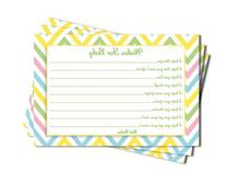 Baby Shower Chevron Wishes for Baby Cards Neutral Girl Boy
