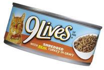 9Lives Shredded Turkey - 24 x 5.5 oz