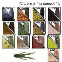 "Gary Yamamoto. 3"" Shrimp. #341 Dk Brwn Blue/gill"