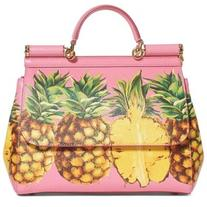 Women's Dolce&gabbana Miss Sicily Pineapple Leather Satchel