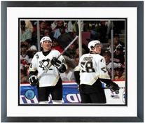 Sidney Crosby Mario Lemieux Pittsburgh Penguins NHL Action