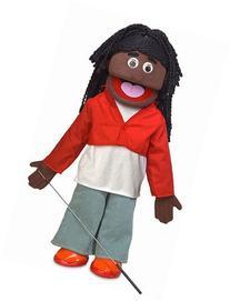 """25"""" Sierra, Black Girl, Full Body, Ventriloquist Style"""