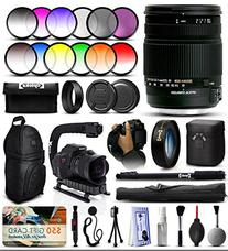 Sigma 18-250mm F3.5-6.3 DC OS HSM Lens for Pentax  + 12