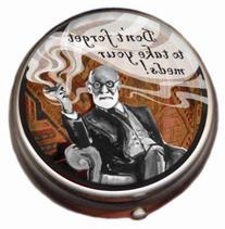 Freud Pill Box - Compact 1 or 2 Compartment Medicine Case