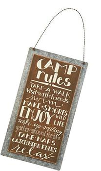 Primitives by Kathy Lake & Cabin Sign, 5.25 x 9.5-Inch, Camp