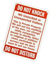 "SmartSign Aluminum Sign, Legend ""Do Not Knock - Do Not"