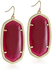 Kendra Scott Signature Danielle Gold Plated Maroon Jade Drop