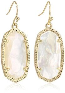 "Kendra Scott ""Signature"" Dani Gold plated Ivory Mother-Of-"