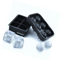 kitchenguru Silicone Ice Cube Trays & Molds - Large Cubes