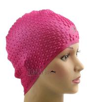 Vktech Silicone Swimming Long Hair Cap Ear Wrap Waterproof