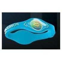 Power Balance Silicone Wristband Bracelet Neon Blue, Size