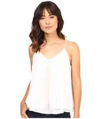 HEATHER - Silk Double Layer Pleat Front Cami  Women's