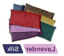 YogaAccessories Small Silk Eye Pillow  - Eggplant Purple
